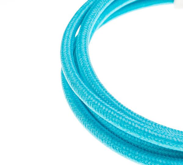 Tekstilni kabl - svetlo plava