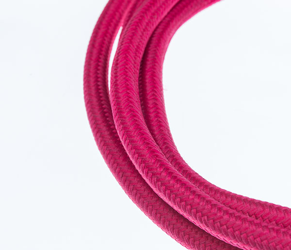 Tekstilni kabl - roza