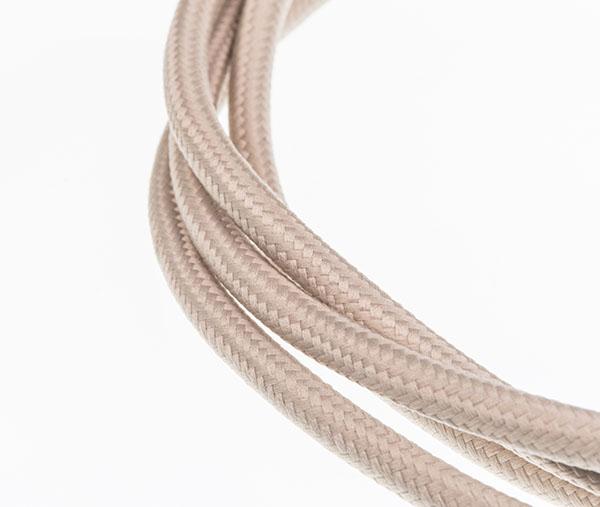 Tekstilni kabl - bež