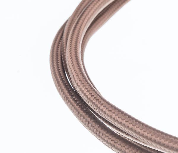 Tekstilni kabl - svetlo braon